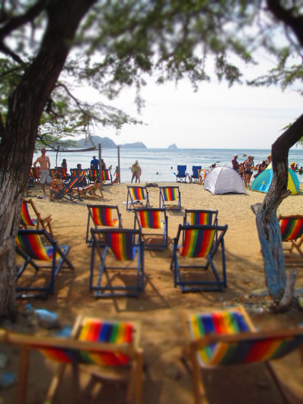 Taganga beach chairs