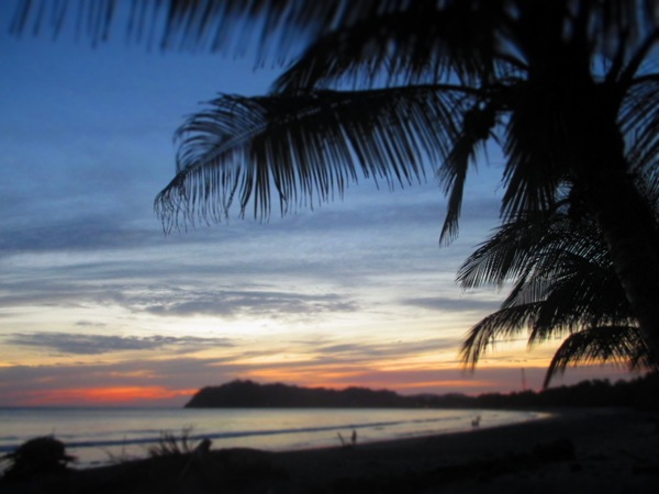 playa samara sunset