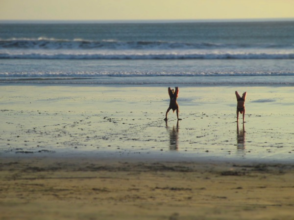 Nosara beach handstand