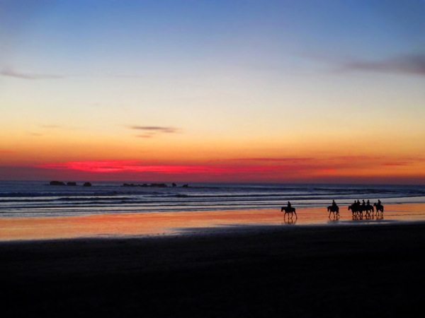 Playa Guiones Sunset Horses