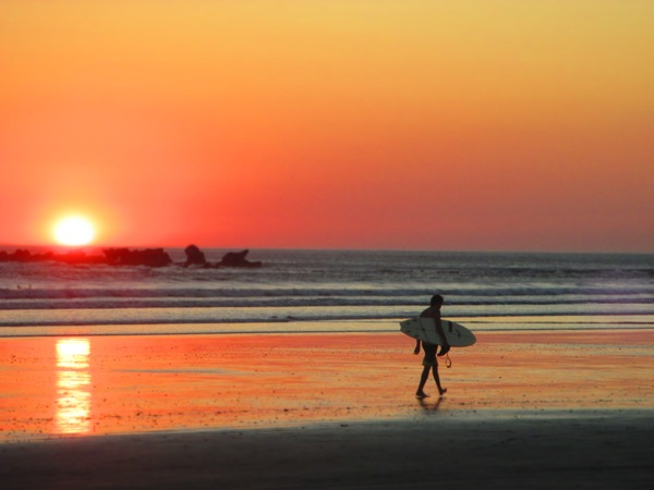 Playa Guiones Sunset Surfer