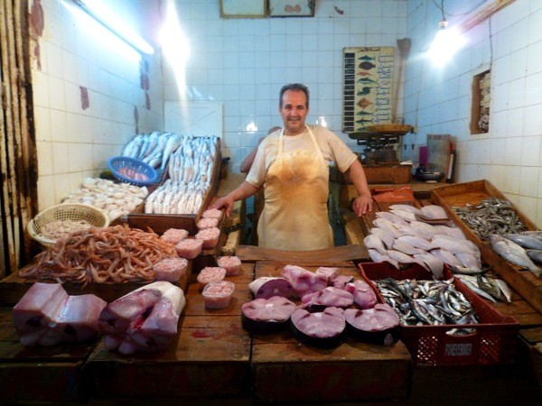 Fez fish monger