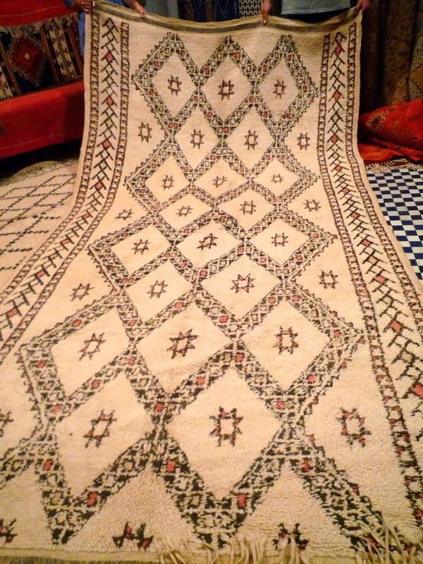 Antique beni ourain rug