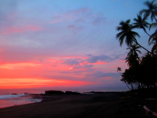 pavones beach sunset