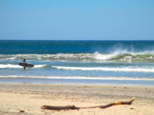 Surfing in Playa Guiones