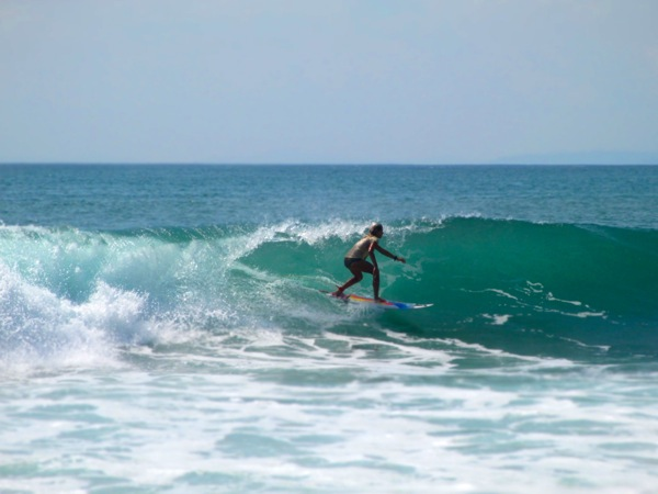 Surfing in Playa Pavones